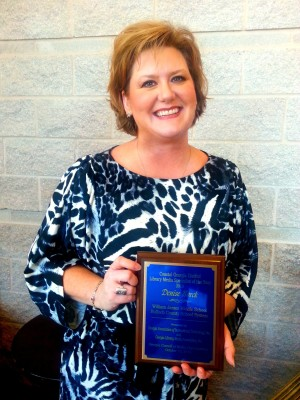 2013 - Media Specialist of the Year for Bulloch County and the Coastal Region of Georgia