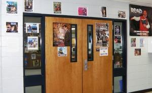Media center doors