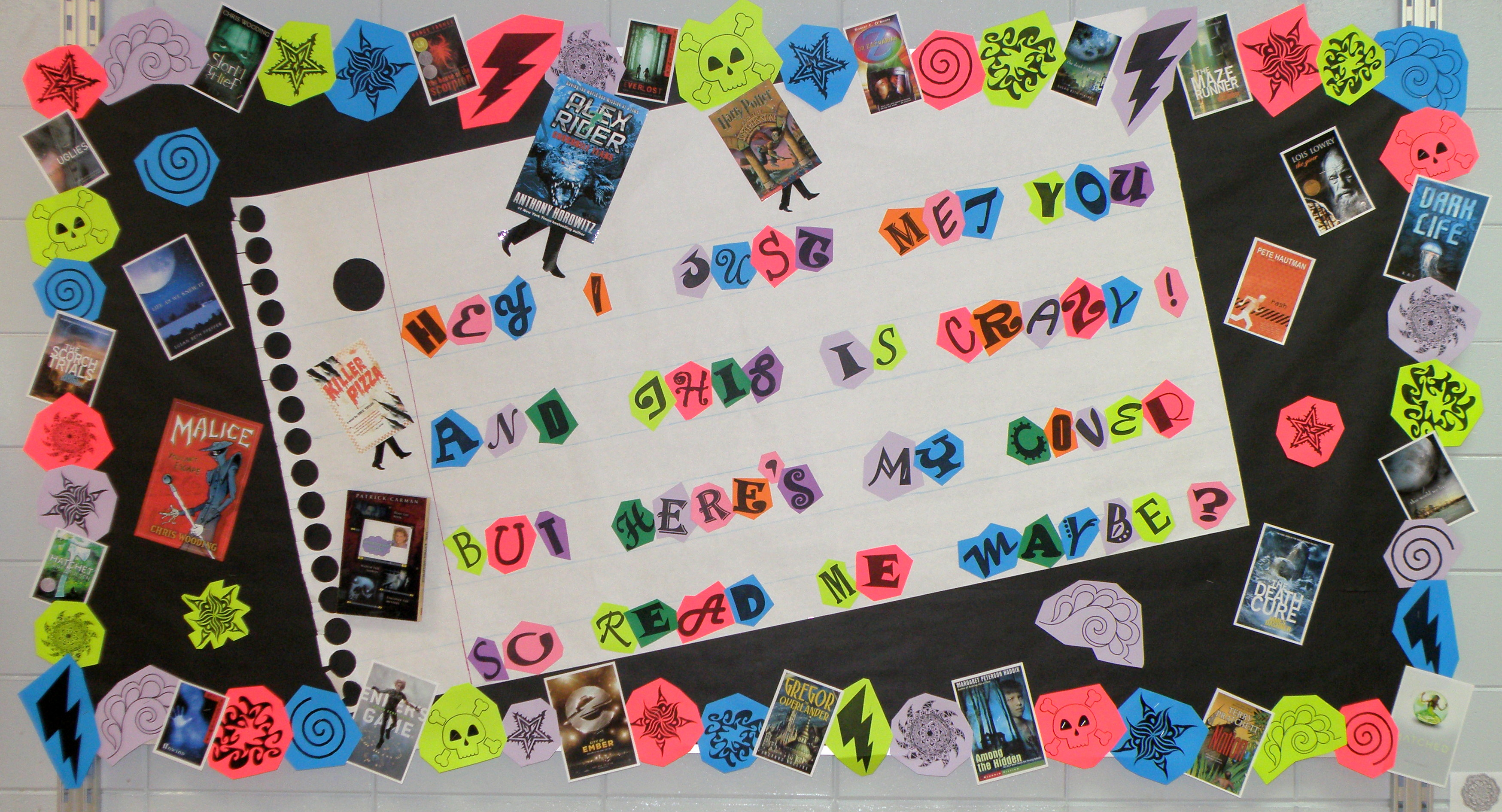 Ideas For Display Boards : Bulletin board ideas middle school library back to